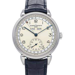 Vacheron Constantin Silver Stainless steel Historique Triple Calendrier 1942 3110V/000A-B426 Men's Wristwatch 40 MM
