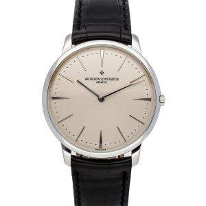 Vacheron Silver 18K White Gold Constantin Patrimony 81180/000G-9117 Men's Wristwatch 40 MM