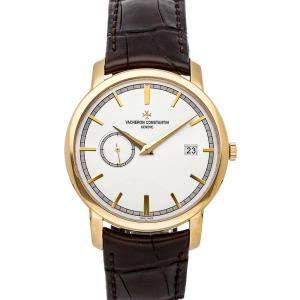 Vacheron Constantin Silver 18K Yellow Gold Traditionnelle 87172/000J-9512 Men's Wristwatch 38 MM