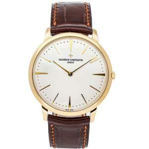 Vacheron Constantin Silver 18K Yellow Gold Patrimony 81180/000J-9118 Men's Wristwatch 40 MM