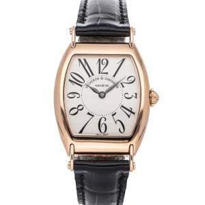 Vacheron Constantin Silver 18K Rose Gold Les Historiques 1912 Limited Edition 37001/000R-8636 Men's Wristwatch 36 x 30 MM