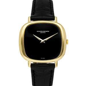 Vacheron Constantin Black 18K Yellow Gold Historiques 2096 Men's Wristwatch 36 x 33 MM