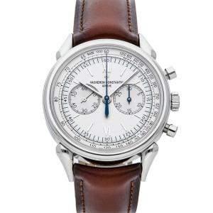 """Vacheron Constantin Silver Stainless Steel Historiques """"Cornes de Vache 1955"""" 5000H/000A-B582 Men's Wristwatch 38.5 MM"""