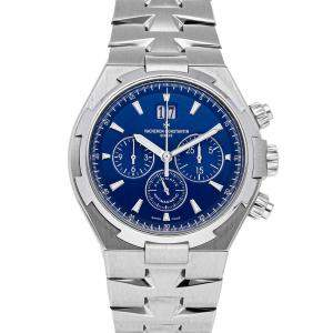Vacheron Constantin Blue Stainless Steel Overseas Chronograph 49150/B01A-9745 Men's Wristwatch 42 MM