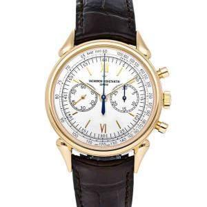 """Vacheron Constantin White 18K Rose Gold Historiques """"Cornes de Vache 1955"""" 5000H/000R-B059 Men's Wristwatch 38.5 MM"""
