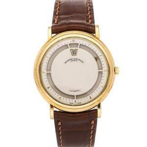 Vacheron Constantin Silver 18K Yellow Gold Jump Hour Saltarelo 43040/000J-8011 Men's Wristwatch 36 MM