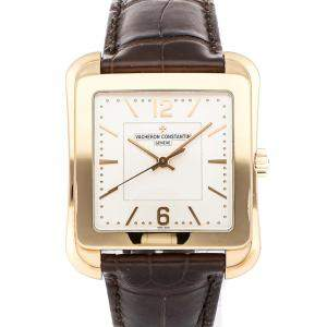 Vacheron Constantin Silver 18K Rose Gold Historiques Toledo 1951 86300/000R-9826 Men's Wristwatch 36 x 43 MM