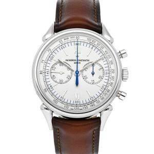 Vacheron Constantin Silver Stainless Steel Historiques Cornes de Vache 1955 5000H/000A-B582 Men's Wristwatch 38.5 MM