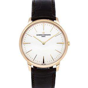 Vacheron Constantin Silver 18K Rose Gold Patrimony 81180/000R-9159 Men's Wristwatch 40 MM