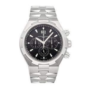 Vacheron Constantin Black Stainless Steel Overseas Chronograph 49150/B01A-9097 Men's Wristwatch 42 MM