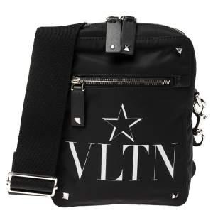 Valentino Black Nylon VLTNSTAR Crossbody Bag