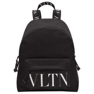 Valentino Garavani Black Nylon Vltn Backpack Bag