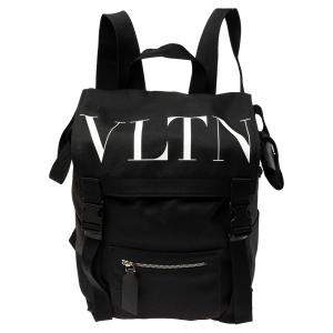 Valentino Black Nylon VLTN Backpack