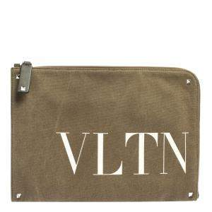 حقيبة مستندات فالنتينو VLTN  كانفاس أخضر