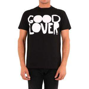 Valentino Garavani Black Cotton Good Lover T-Shirt Size L
