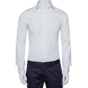 قميص فالنتينو قطن أبيض بأزرار أمامية مقاس صغير جدًا - إكس سمول