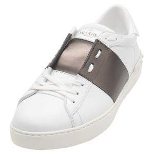 حذاء رياضي فالنتينو جلد روتينيو /أبيض مفتوح مقاس 42