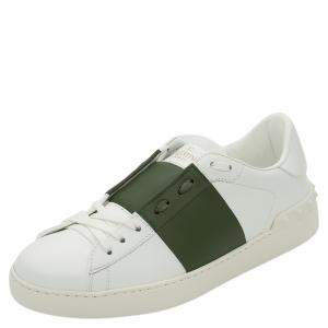 Valentino White/Dandy Leather Open Sneakers Size 42