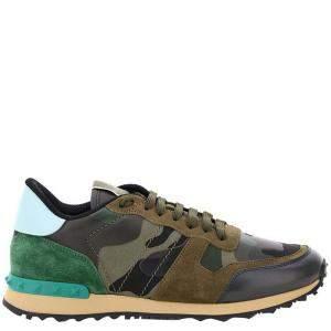 Valentino Garavani Multicolor Camouflage Rockrunner Sneakers Size EU 41