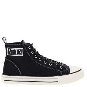 Valentino Garavani Black Vltn Giggies High Top Sneaker Size EU 42