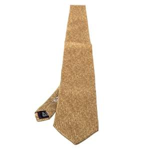 Valentino Vintage Beige Printed Silk Traditional Tie