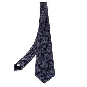 ربطة عنق فالنتينو حرير جاكار أسود مورد