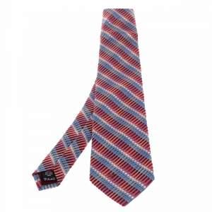 ربطة عنق فالنتينو فينتدج حرير مخطط مائل أومبريه متعدد الألوان