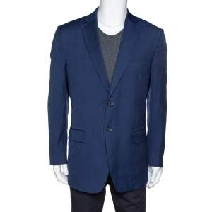 Valentino Navy Blue Wool Super 140's Tailored Blazer XXXL