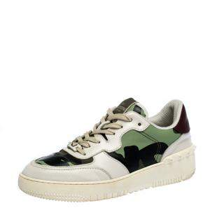 Valentino Multicolor Camouflage Canvas and Leather Rockrunner Sneakers Size 41