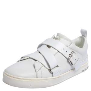 Valentino White Leather Criss Cross Slip On Sneakers Size 42.5