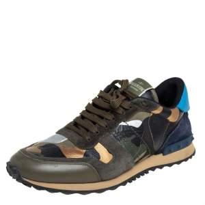 حذاء رياضي فالنتينو روك رانر كانفاس وسويدي نمط مموه متعدد الألوان مقاس 42