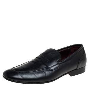 حذاء لوفرز فالنتينو سليب أون جلد أسود مقاس 40
