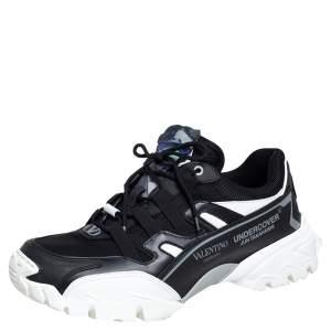 حذاء رياضي فالنتينو كليمبر جلد وقماش أسود غارافاني × أندركافر مقاس 44