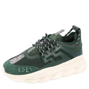 Versace Green Chain Reaction Sneakers Size 39.5