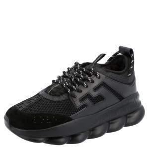 Versace Black Chain Reaction Sneakers Size EU 39.5
