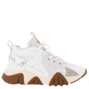Versace White/Brown Squalo Hiker Sneakers Size EU 41