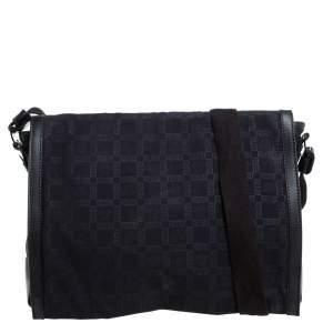 Versace Black Signature Nylon Messenger bag