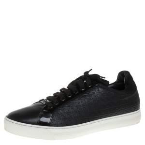 حذاء رياضي فيرساتشي جلد أسود بعنق منخفض مقاس 44