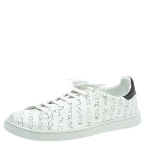 Vetements White Perforated Leather Low Top Sneakers Size 45