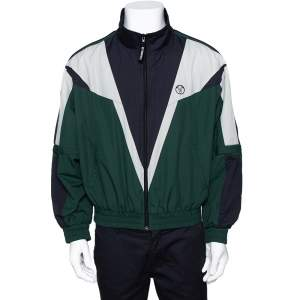 Vetements Green Rear Logo Print Zip Up Track Jacket M