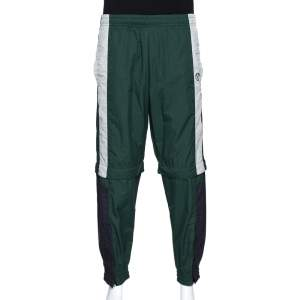 Vetements Green & Black Convertible Zip Off Track Pants XS