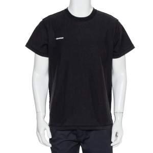 Vetements Black Cotton Inside Out Crewneck T-Shirt M