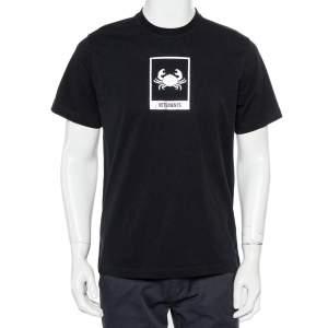 Vetements Black Cancer Zodiac Printed Cotton Roundneck T-Shirt M
