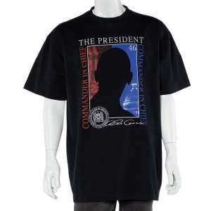 Vetements Black President Graphic Print Cotton Oversized T-Shirt S