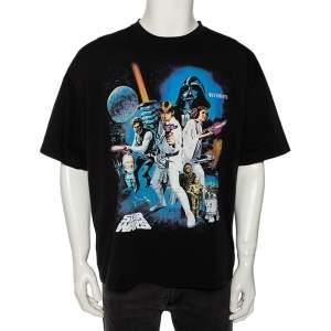 Vetements x Star Wars Limited Edition Black Cotton Printed Crewneck T-Shirt XL