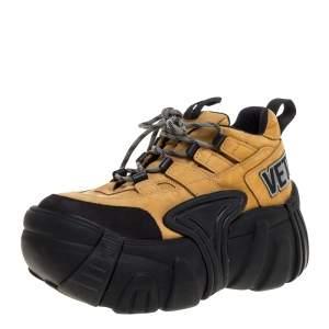 Vetements x Swear Beige Nubuck Platform Sneakers Size 42
