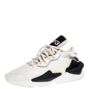 """حذاء رياضي واي-3 """"كايوا"""" قماش و جلد كريمي و أسود مقاس 44"""