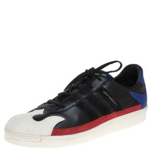 Adidas Y-3 Tricolor Leather And Rubber Nomad Star Low Top Sneakers Size 44 2/3