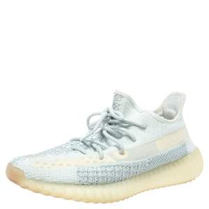 Yeezy x adidas Multicolor Knit Fabric Boost 350 V2 Cloud Non-Reflective Sneakers Size 44