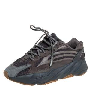 Adidas Yeezy Boost 700 V2 Geode Multicolor Nubuck And Suede Lace Up Sneakers Size 41.5